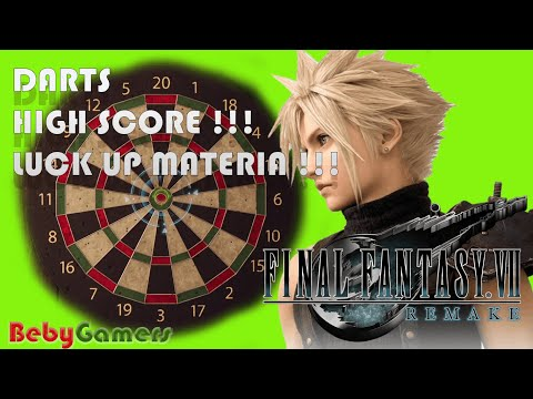 FINAL FANTASY 7 REMAKE - DARTS !! HIGH SCORE !! LUCK UP MATERIA !! [FF7 PART 10] from YouTube · Duration:  2 minutes