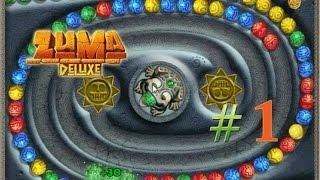 Zuma Deluxe #1 (Stage 1-3) - เป็นเกมที่เล่นนานๆแล้วตาลายมาก
