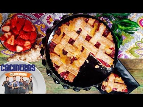 Receta: Tarta de fresas con jengibre   Cocineros Mexicanos