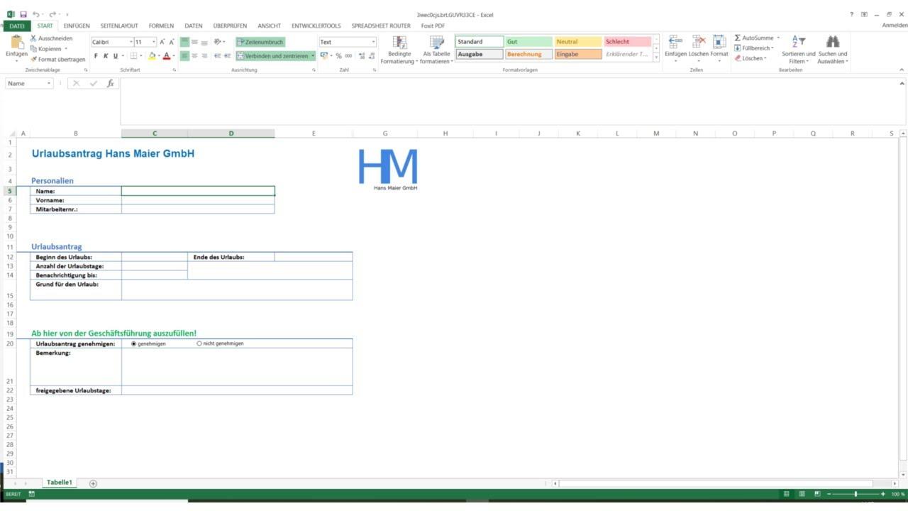 Youtube Video: Spreadsheet Router Tutorial: Bestimmte Zelle beim Öffnen des Excels direkt anspringen