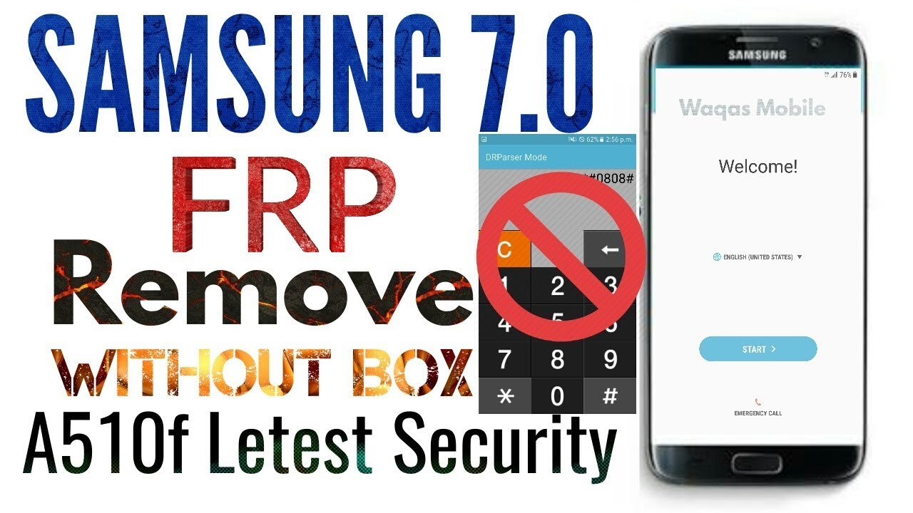 Samsung A510f 7 0 Frp bypass 1000% Working Solution Without Box   No  Calculator by waqas mobile by waqas mobile