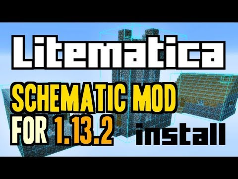 LITEMATICA MOD 1 13 2 minecraft - how to download and install [like  Schematica] (with Rift) by CraftStones