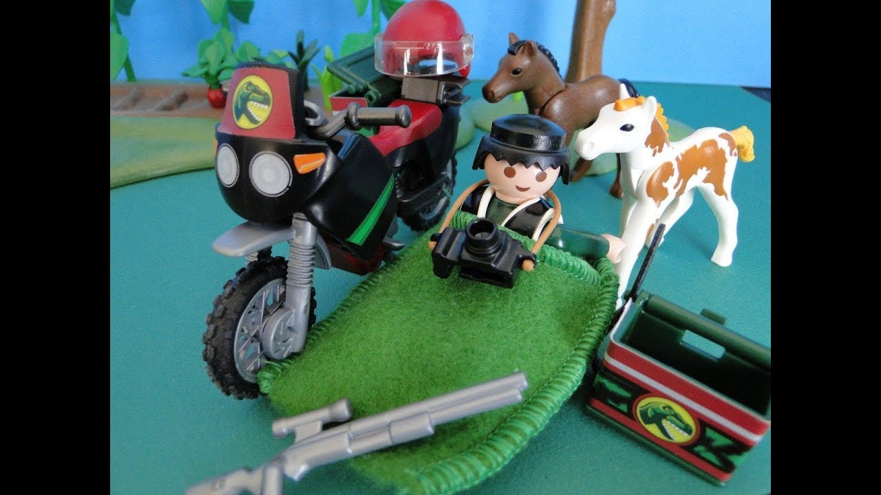 playmobil dinos moto dinosaure youtube. Black Bedroom Furniture Sets. Home Design Ideas