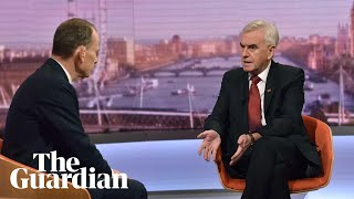 John McDonnell on NHS privatisation and Heathrow expansion under Labour
