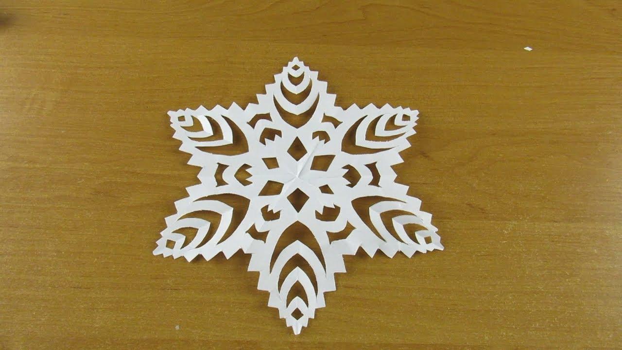 Как сделать СНЕЖИНКУ ИЗ БУМАГИ А4 легко и просто. Снежинка на окна своими руками №16