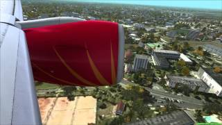 FSX PMDG 777 Landing Indira Gandhi International Airport VIDP