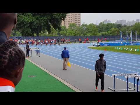 9-10 girls 100m dash finals, Icahn Stadium
