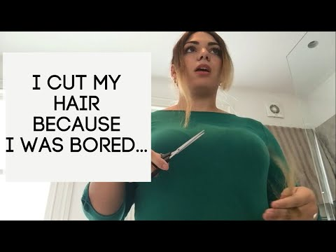 I cutted my own hair... because I was bored thumbnail