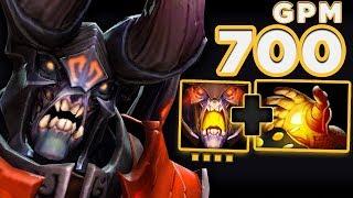 ИДЕАЛЬНЫЙ ХАРДЛАЙНЕР ДУМ В 7.21 | Doom Hard Lane Dota 2