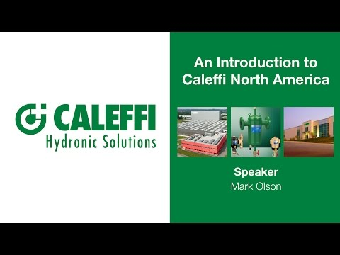 An Introduction to Caleffi North America