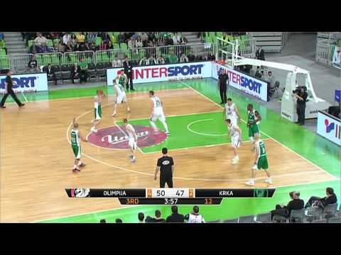 ABA Liga 2014/15, Round 26 match: Union Olimpija - Krka (21.3.2015)