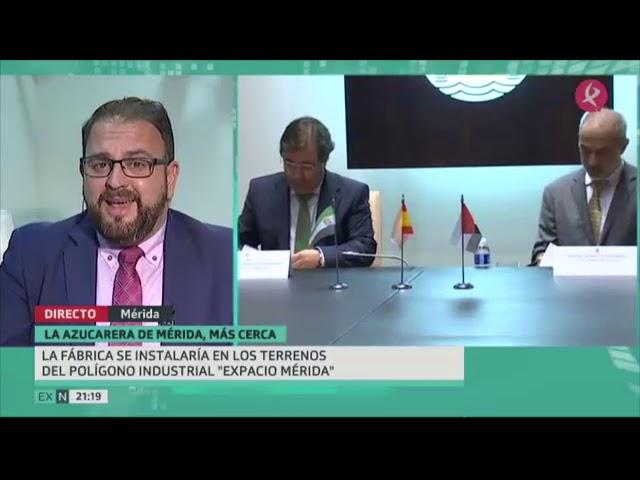 Entrevista al Alcalde de Mérida sobre la Azucarera