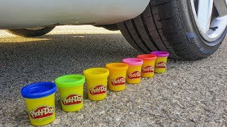Crushing Crunchy & Soft Things by Car! - EXPERIMENT: CAR VS SLIME STRESS BALLS!!
