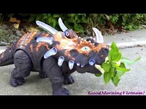 Đồ Chơi Khủng Long Mỏ Chim Triceratops (Bí Đỏ) Triceratops Dinosour New 2015
