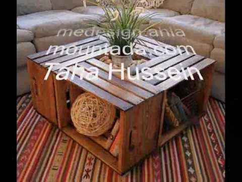 How to make a coffee table from wine crates youtube for How to make a coffee table out of crates
