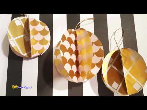 QUICK & EASY PAPER ORNAMENTS FOR CHRISTMAS