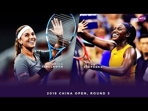 Dominika Cibulkova vs. Sloane Stephens | 2018 China Open Third Round | WTA Highlights