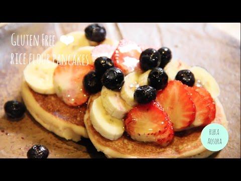グルテンフリー米粉のパンケーキ(-vegan-ok)-gluten-free-rice-flour-pancakes