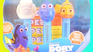 FINDING DORY PEZ Candy Dispensers Toy Fish Bowl Gift Set with Nemo Bailey