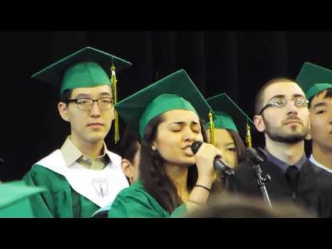 National Anthem by Shanti Kumar at Bronx Science Graduation 2013