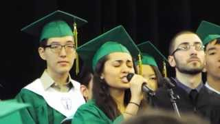National Anthem by Shanti Kumar at Bronx Science Graduation 2013