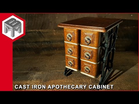 Cast Iron Apothecary Cabinet - Repurposed Drawers