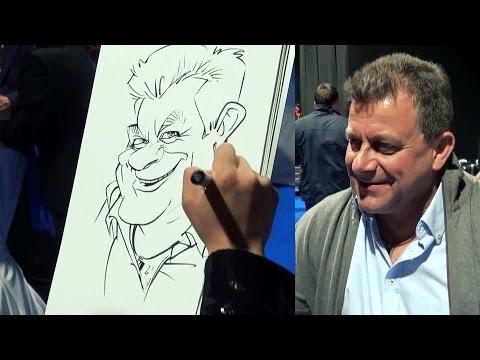 Demonstration Caricature - Schnellzeichner Live-Act