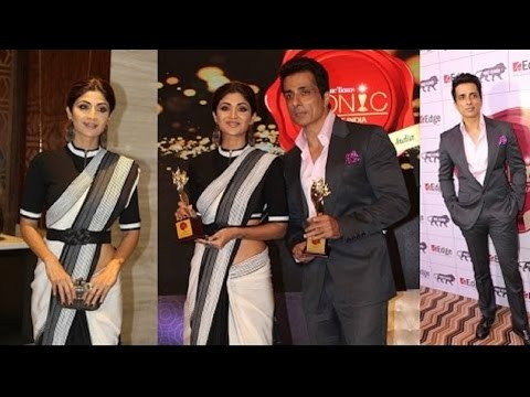 Shilpa Shetty and Sonu Sood At The Best Iconic Brands Of India Summit 2017