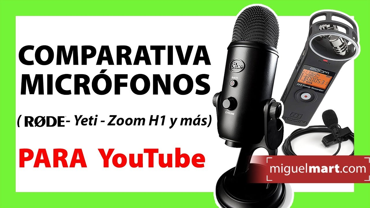 Comparativa De Micrófonos Para Youtube Con Muestras De Audio 2019 Youtube