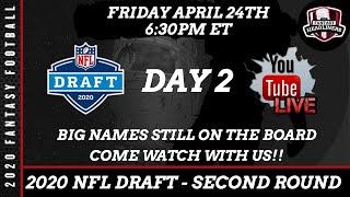 2020 NFL Draft LIVE Stream - Second Round Pick by Pick Analysis