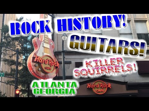 Downtown Atlanta and the Hard Rock Cafe