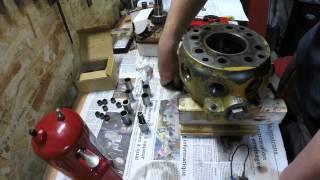 Restauration d'une pompe hydraulique de tractopelle John Deere JD410 - Partie 2