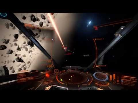 Elite Dangerous make easy money in asteroid extraction site.