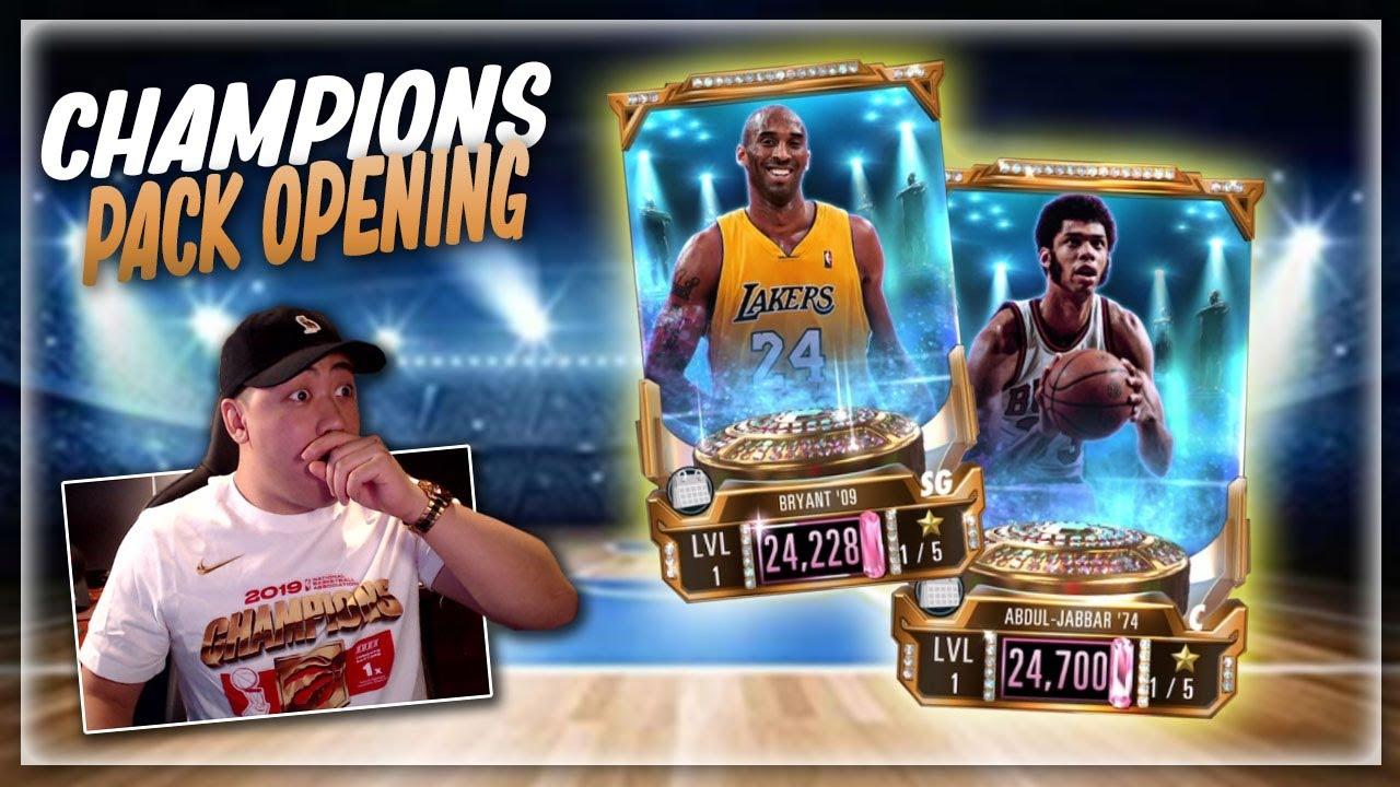 NBA 2K Mobile Champions Pack & Opening Gameplay!! PINK DIAMOND KOBE, KAREEM & MORE!!