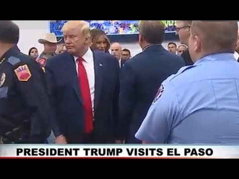 VISITING SURVIVORS & OFFICIALS: President Trump in El Paso, Texas