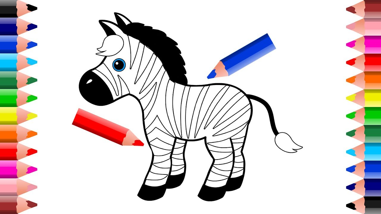 How To Draw And Color A Rainbow Zebra Drawings For Kids Setoys