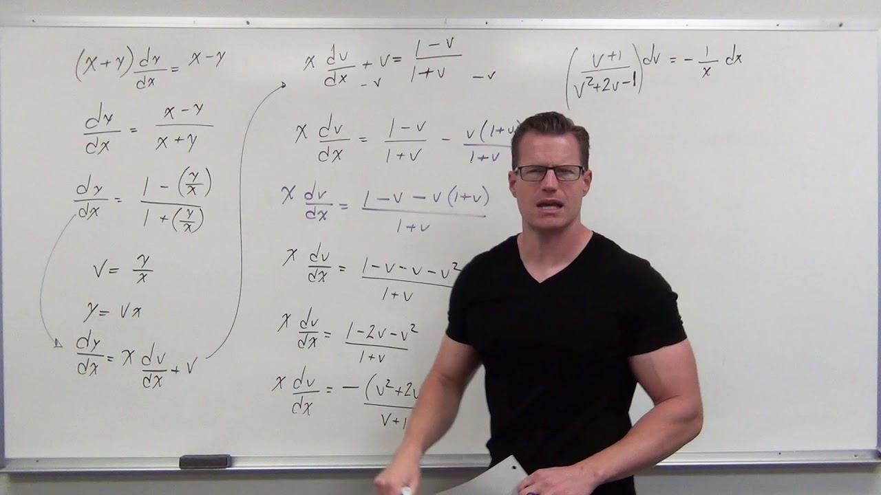 Download Solving Homogeneous First Order Differential Equations (Differential Equations 21)