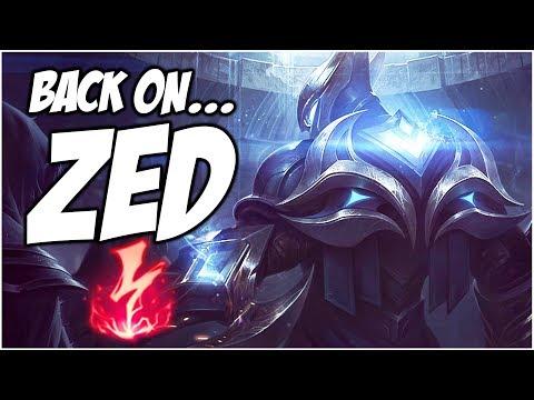 BACK ON... ZED - PreSeason 8 | League of Legends thumbnail