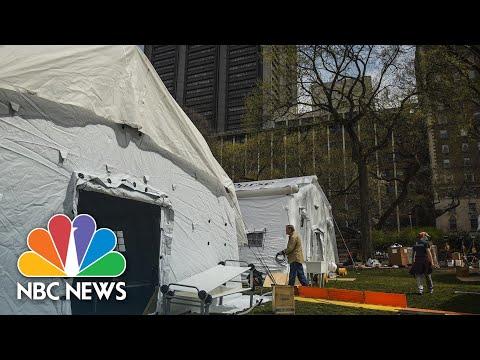 Inside Central Park's emergency field hospital | NBC Nightly News