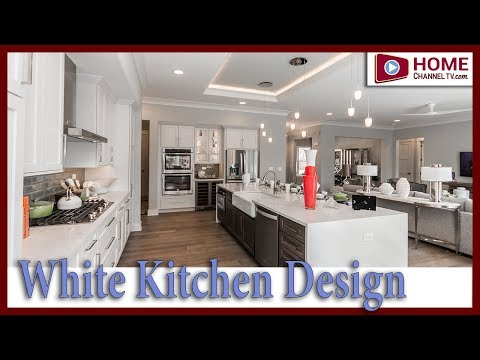 New White Kitchen Design from one of KLM Builders Ranch Homes