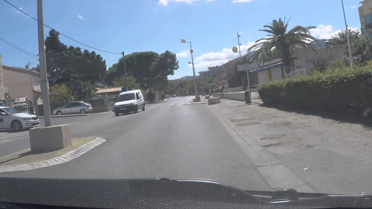 Argeles sur mer plage by car north to south youtube for Garage automobile argeles sur mer