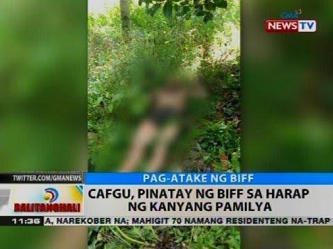 CAFGU, pinatay ng BIFF sa harap ng kanyang pamilya