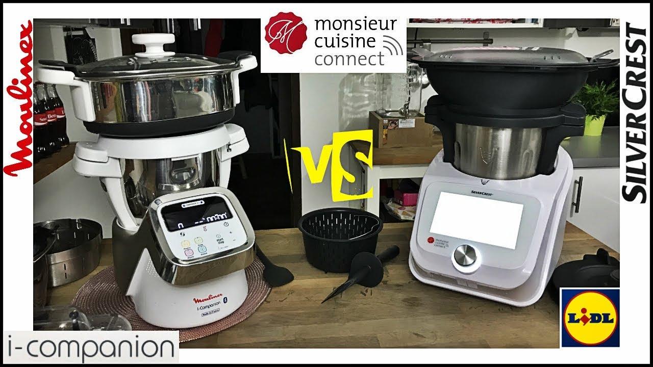Comparaison Monsieur Cuisine Connect Et I Companion Moulinex Et