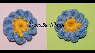 Вязание крючком для начинающих. Цветок незабудка  \\\\   Crochet for beginners. flower forget-me(Вязание крючком для начинающих. Цветок незабудка http://youtu.be/-hHq4WOfD8I Вязание крючком для начинающих. Цветок..., 2015-02-14T16:00:26.000Z)