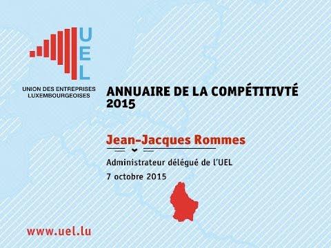 Conférence de presse - Annuaire de la compétitivité 2015