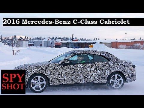 2016 Mercedes-Benz C-Class Cabriolet (A205) Sweden Spy Shot !