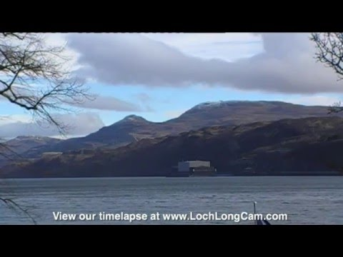 Live from Loch Long, Argyll.