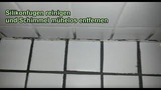 Silikonfugen reinigen – Schimmel von Silikonfuge entfernen – Fugen im Bad / Dusche sauber machen