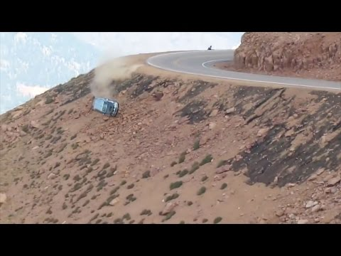 Jeremy Foley's crash at the 2012 Pikes Peak International Hill Climb - Multiple Angles