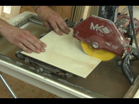 How To Cut Tile With A Wet Saw Youtube